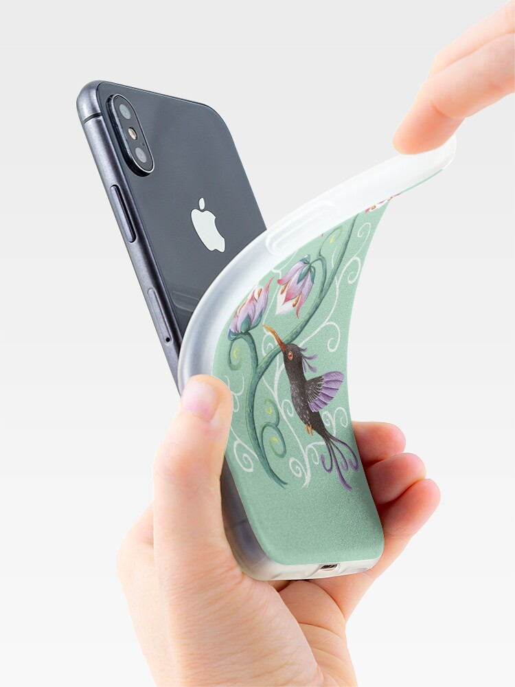 Alternate view of Hummingbird iPhone Case & Cover