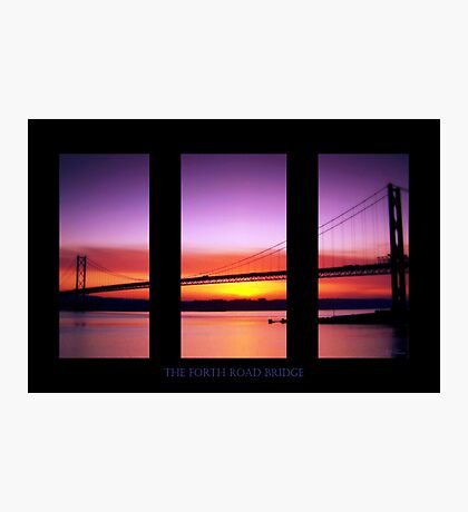 Sunset Over The Forth Road Bridge Photographic Print
