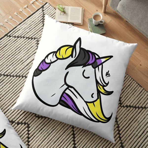 Pride Unicorn- Nonbinary/Enby/NB Floor Pillow