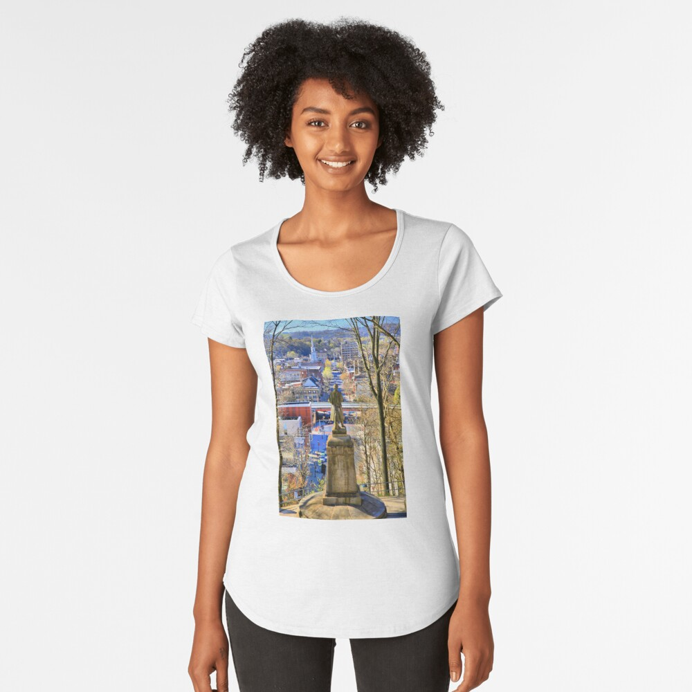 A View from College Hill Premium Scoop T-Shirt