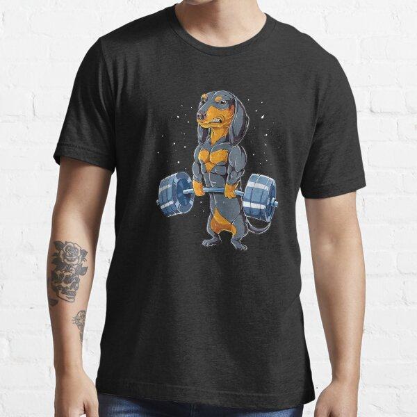 Dachshund Weightlifting Fitness Gym Essential T-Shirt