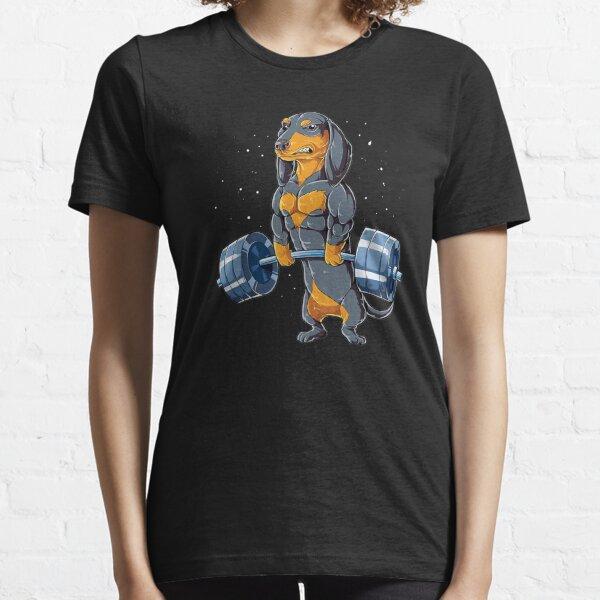 Gymnase d'haltérophilie teckel T-shirt essentiel