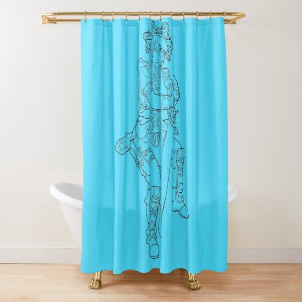 Summer Avatar Woman Goddess, transparent line-art Shower Curtain