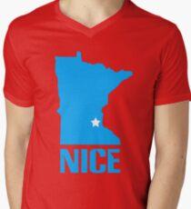 Minnesota nice geek funny nerd Men's V-Neck T-Shirt