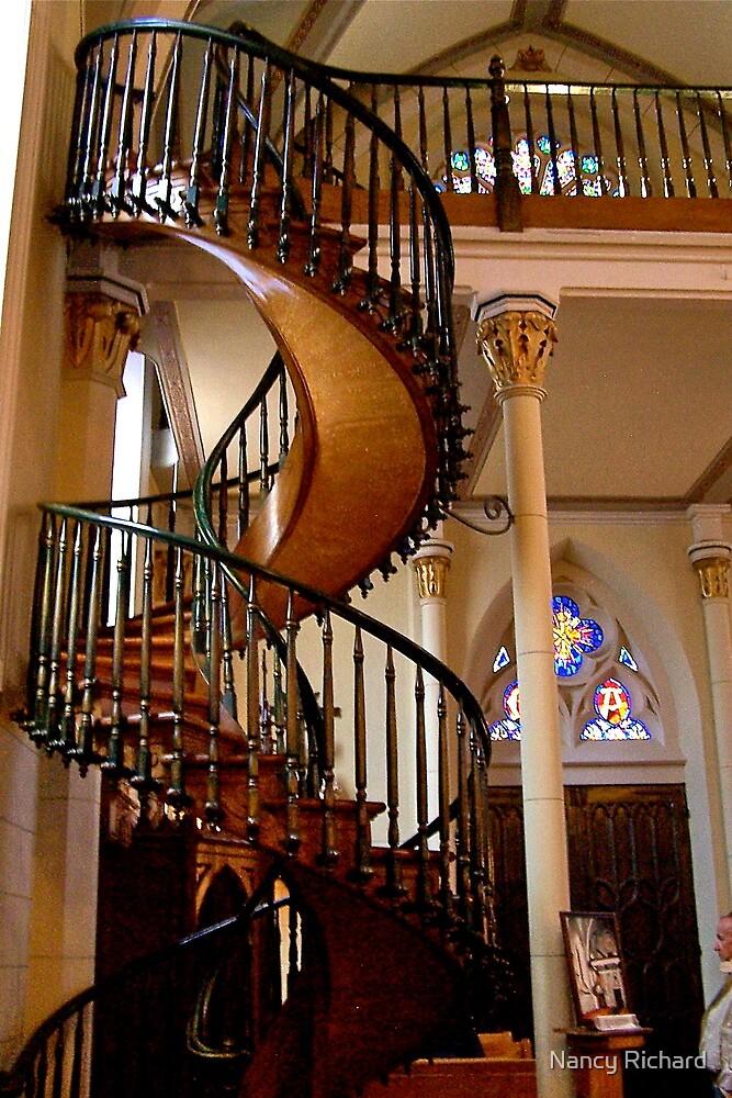 Loretto Chapel Miraculous stairs by Nancy Richard