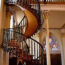 Loretto Chapel Miraculous stairs by Nancy Richard
