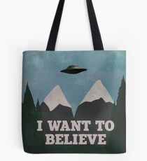X-Files Twin Peaks mashup v2 Tote Bag