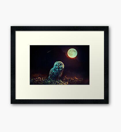 Guardia de noche Lámina enmarcada