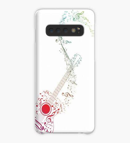 Gitarre und Musiknoten 10 Hülle & Klebefolie für Samsung Galaxy