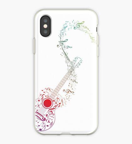 Gitarre und Musiknoten 10 iPhone-Hülle & Cover