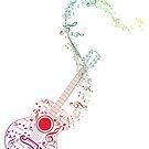 Gitarre und Musiknoten 10 von AnnArtshock