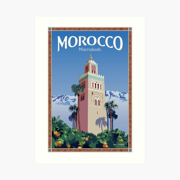 Visit Marrakesh Art Print