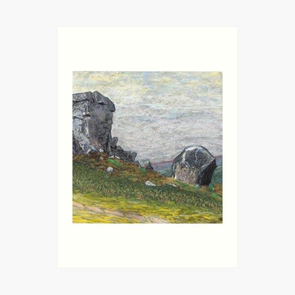 Cow and Calf rocks Art Print