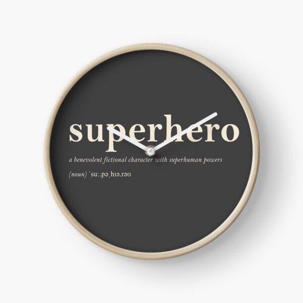 Superhero Clock