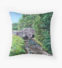 'The Bridge at Bass Lake' Throw Pillow