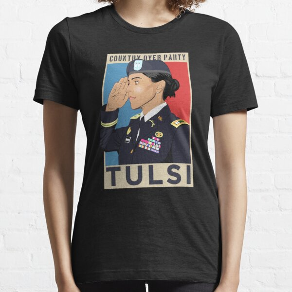 Tulsi Gabbard 2020 for President, Country Over Party, Military Veteran Salute Essential T-Shirt