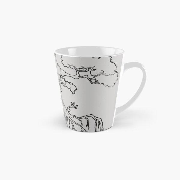 Duality Tree Ancient Wisdom transparent line-art Tall Mug