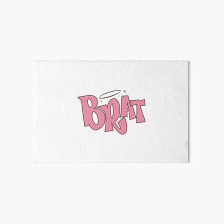 Pink Brat logo  Art Board Print