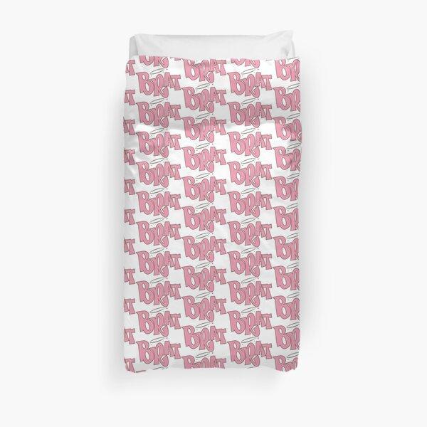 Pink Brat logo  Duvet Cover