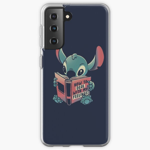 How to Deal With My Feelings Funny Book Alien Samsung Galaxy Soft Case