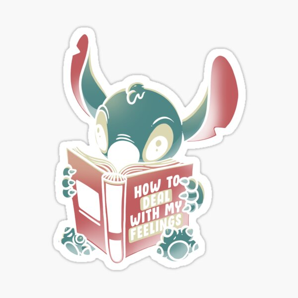 How to Deal With My Feelings Funny Book Alien Sticker