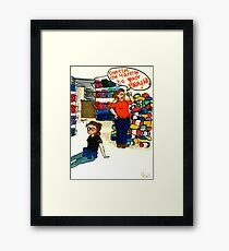 Dont Let the Yarn Go To Your Brain Framed Print