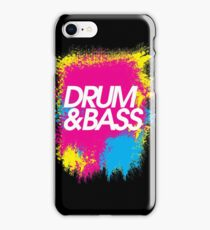 Drum & Bass (splash) iPhone Case/Skin