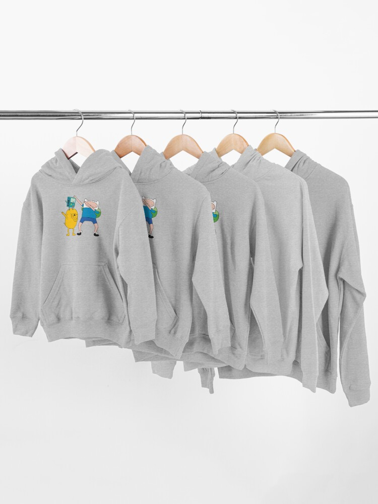 Alternate view of Finn Jake BMO Dab Kids Pullover Hoodie