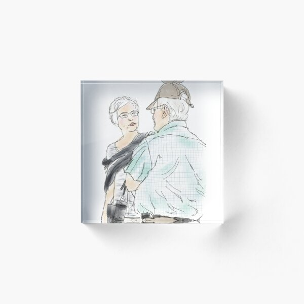 A Fun Casual Conversation and Chat Acrylic Block