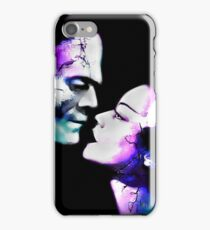 Dark Love Purple/Teal iPhone Case/Skin