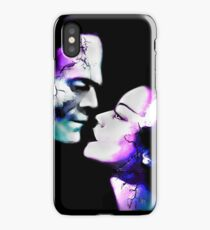 Dark Love Purple/Teal iPhone Case