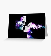 Dark Love Purple/Teal Greeting Card