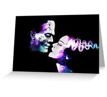 Dark Love Purple/Teal Greeting Card