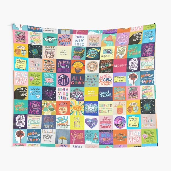 Positivity Patchwork Tapestry