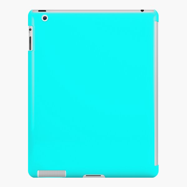 Cyan Simple Solid Designer Color All Over Color iPad Snap Case
