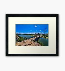 Austin 360 Bridge Framed Print