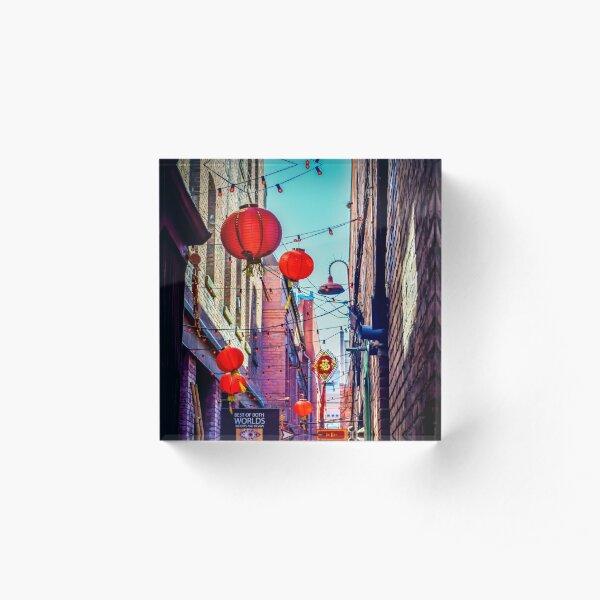 Fan Tan Alley Acrylic Block