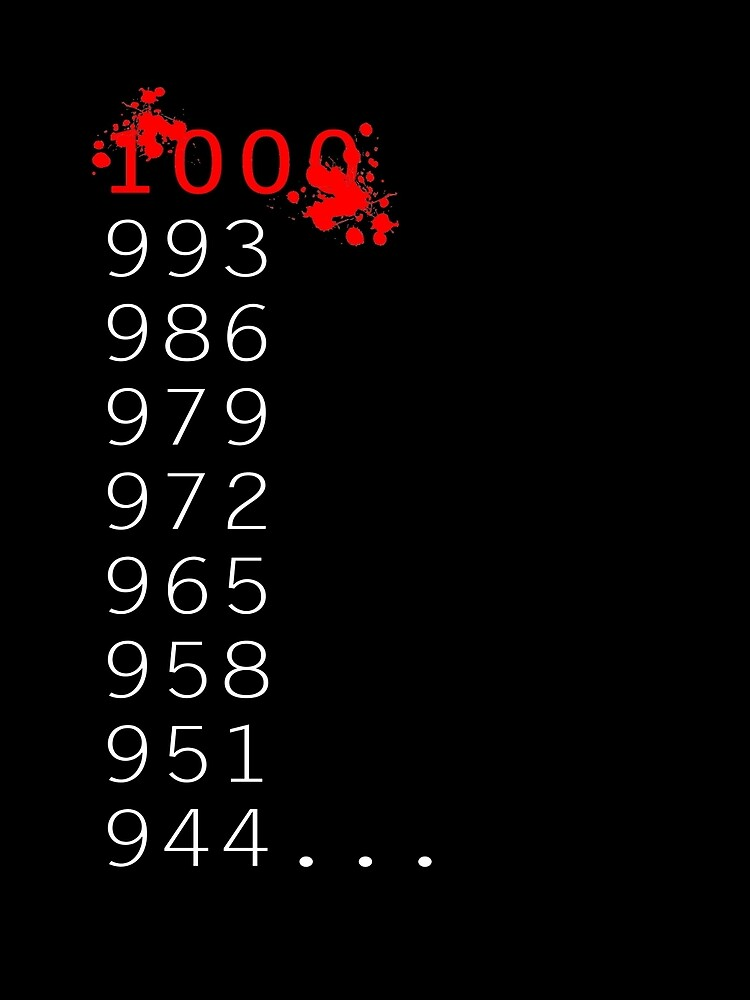 """""""What's 1000 Minus 7?"""" by athee-fille"""
