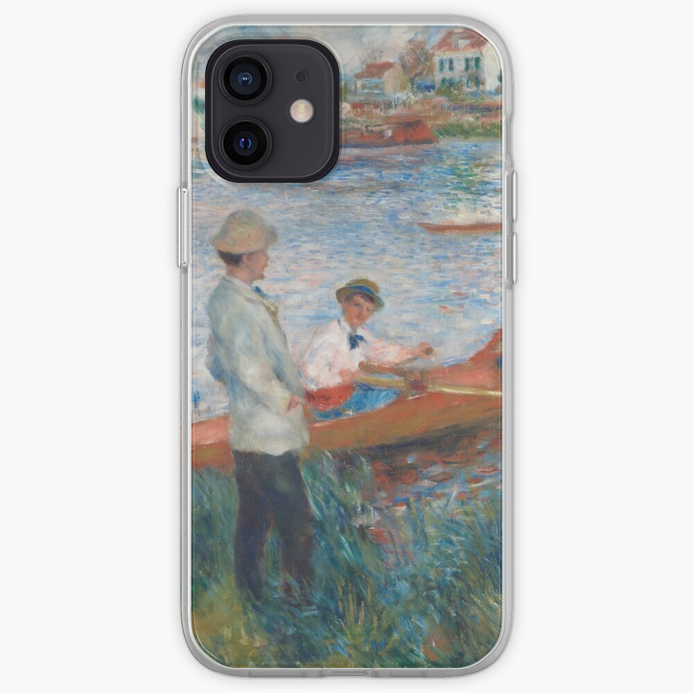 Oarsmen at Chatou Painting by Auguste Renoir iPhone Case & Cover