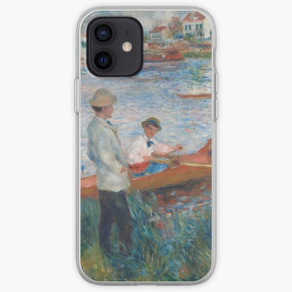 Oarsmen at Chatou Painting by Auguste Renoir iPhone Soft Case