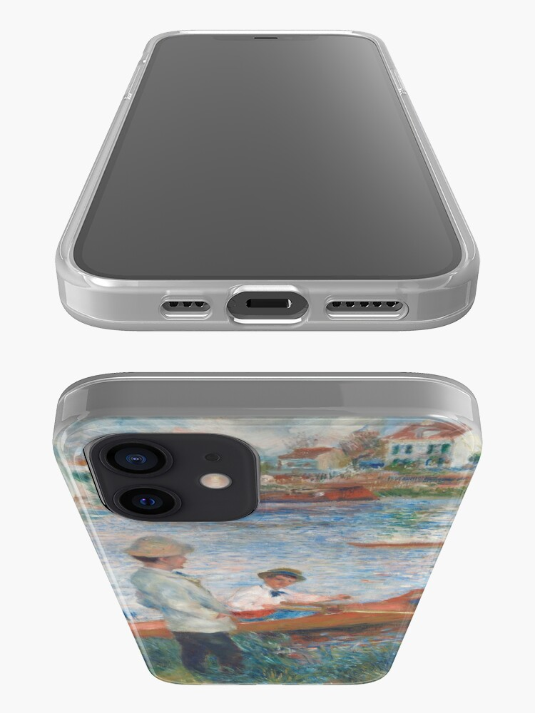 Alternate view of Oarsmen at Chatou Painting by Auguste Renoir iPhone Case & Cover
