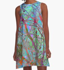 Mermaids Garden A-Line Dress