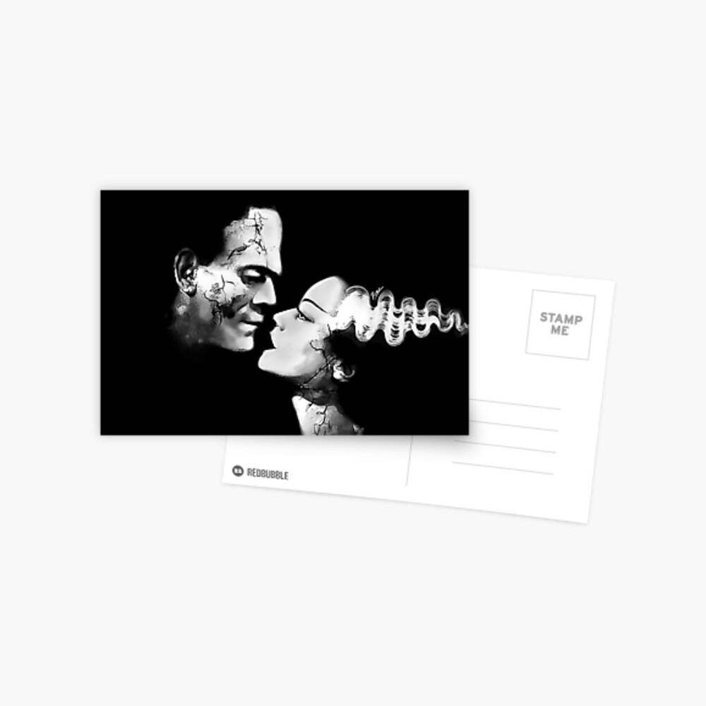 Dunkle Liebe Postkarte