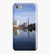 Liverpool Docks mirror landscape iPhone Case/Skin