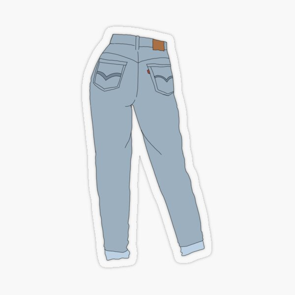 Mom Jeans Transparent Sticker