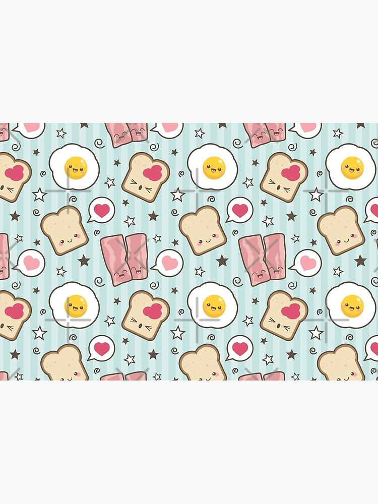Kawaii Bacon Egg and Bread by LisaMarieArt