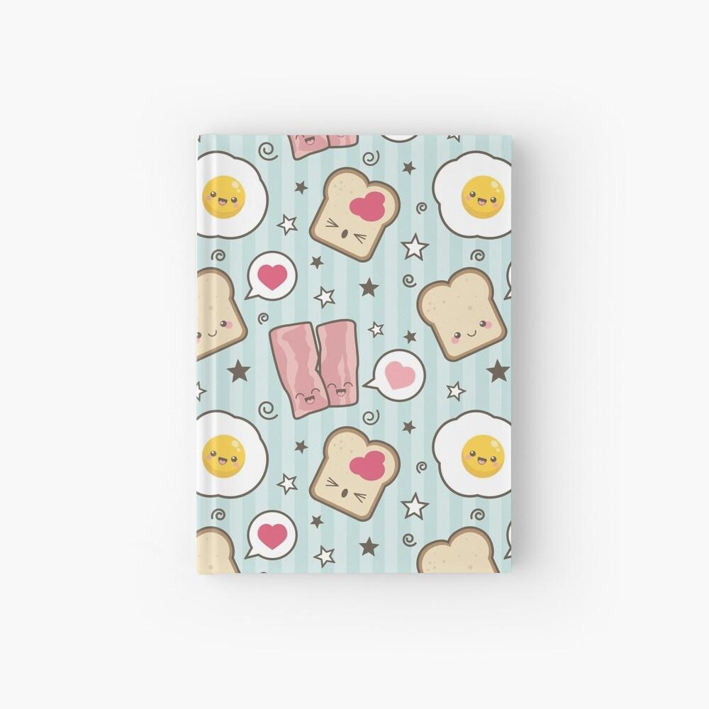 Kawaii Bacon Egg and Bread Hardcover Journal