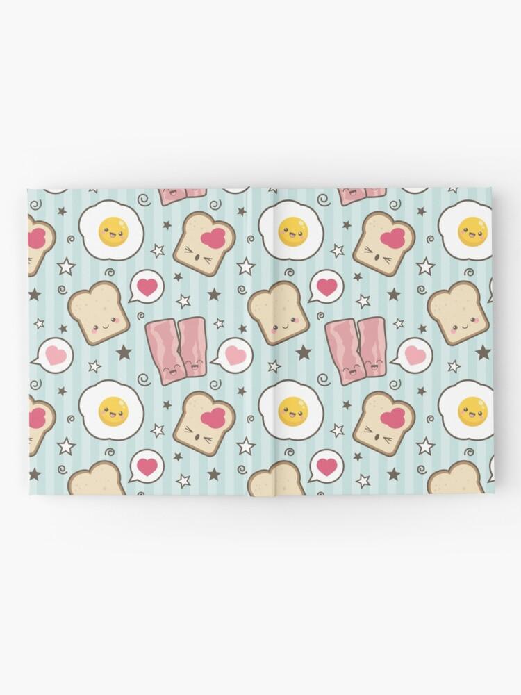 Alternate view of Kawaii Bacon Egg and Bread Hardcover Journal