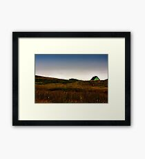 Mr Slaney's house over the hill Framed Print