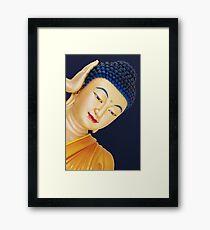buddha face Framed Print
